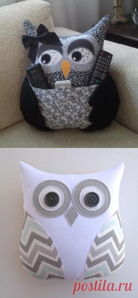 Очаровательные подушки совы, которые захочется сшить или купить   Поделки и Подарки Своими Руками   Яндекс Дзен