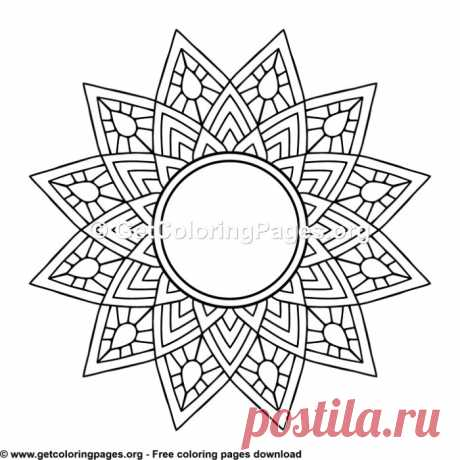 Ethic Style Mandala 1 Coloring Pages – GetColoringPages.org