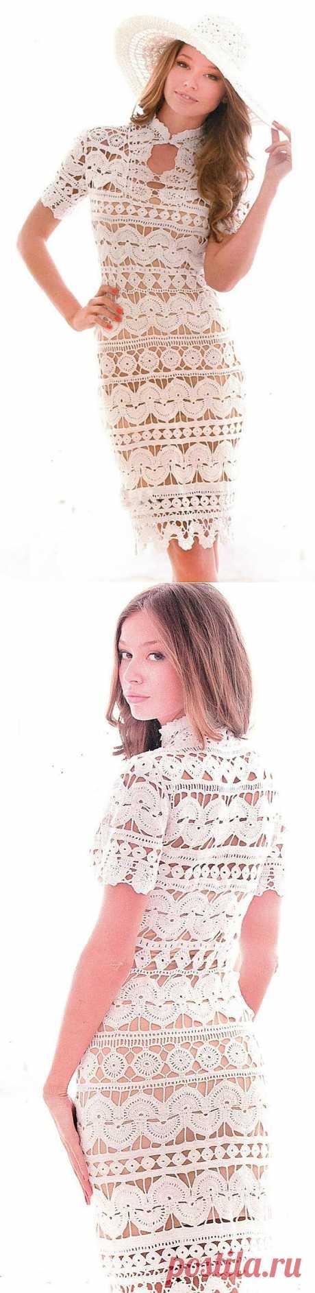 Кружевное белое платье | Шкатулочка для рукодельниц