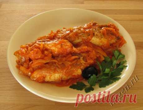 Fish under vegetable marinade