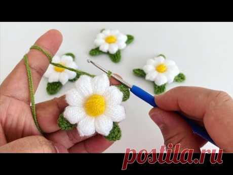 Nerde istersen orda kullan Çok amaçlı çiçek yapımı Tığişi çiçek yapımı Puf lif çiçeği Papatya yapımı