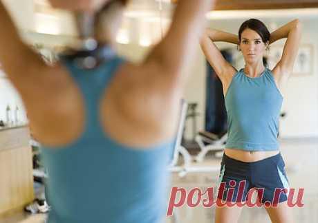 Упражнения  для спины с гантелями. комплекс. упражнения. картинки.
