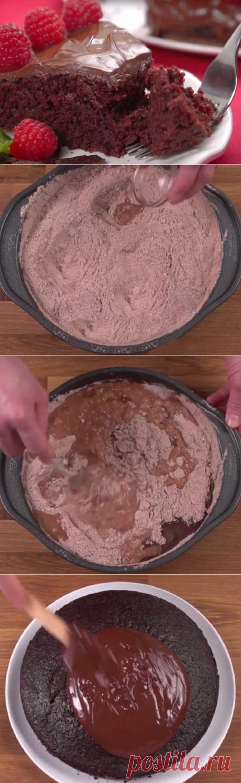 Этот шоколадный торт готовится моментально! Секрет — в простых ингредиентах, а главное - не нужно яиц, молока и сливочного масла! | Четыре вкуса