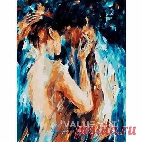 Картина по номерам - Поцелуй страсти, Купить набор для рисования на холсте в Москве от интернет-магазина valueart.ru