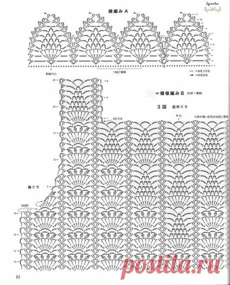 японские схемы вязания крючком: 5 тыс изображений найдено в Яндекс.Картинках