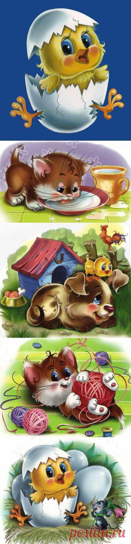 Картинки для деток Г.Цукавина.