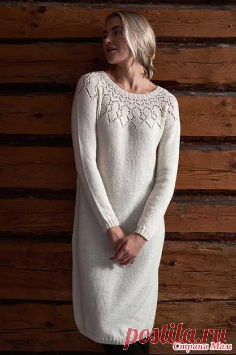 . Платье спицами от Lea Petaja женское и девчачье - Вязание - Страна Мам