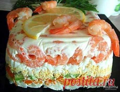Фитнес-салат с креветками и авокадо  / Весёлая кулинария