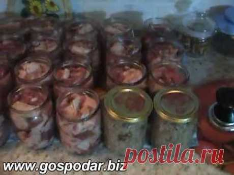 Рецепт приготовления свиной тушенки в автоклаве - YouTube