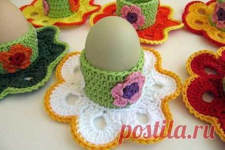 Пасхальный сувенир - подставка для яиц из категории Интересные идеи – Вязаные идеи, идеи для вязания