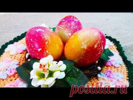 Мраморные пасхальные яйца / Очень красивые яйца на Пасху