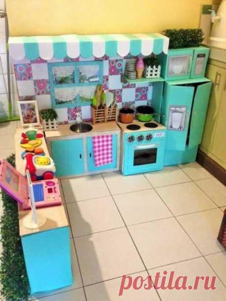 Детская кухня для девочек своими руками