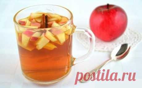 Имбирный чай с яблоками для здоровья и красоты.