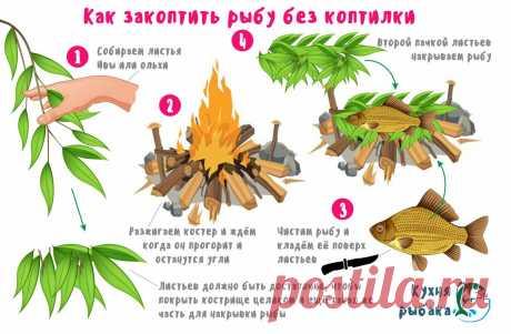 Как закоптить рыбу без коптилки | Кухня рыбака | Яндекс Дзен