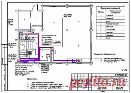 Проект отопления частного дома, пример 1416