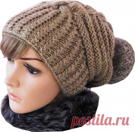 Зимняя шапка по мотивам известного дизайнера Negin Mirsalehi, видео-урок