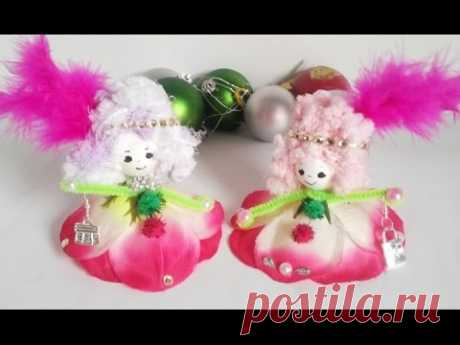40.COMO HACER Muñeca de flor .Как сделать Кукла из цветка за 5 мин.для не умеющих шить. - YouTube