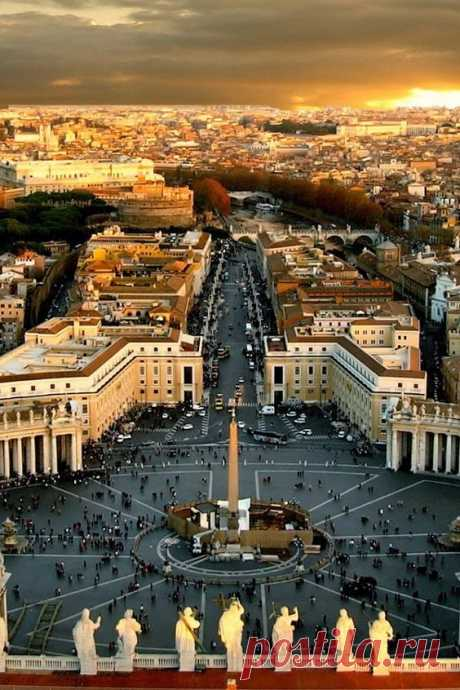 Amazing view from the top of St. Peter's - Rome | Pinterest • The world catalog of ideas