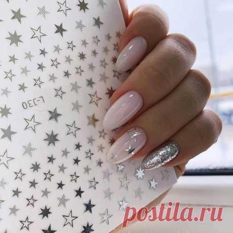 Маникюр на короткие ногти: новогодний дизайн, красивый, модный, стильный новогодний маникюр, фото