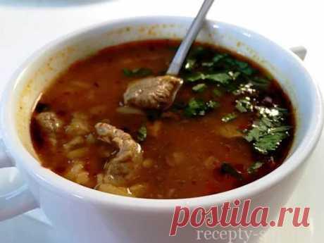La sopa del Jarchó del cordero poshagovyy la receta con foto-más sabroso