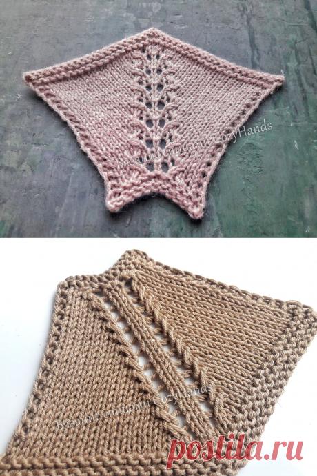2 варианта вязания ажурной регланной линии | Вязание спицами CozyHands | Яндекс Дзен