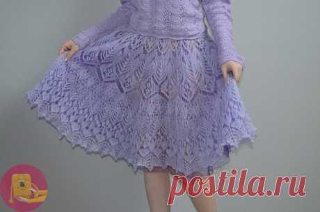 Мохеровая юбка шетландом