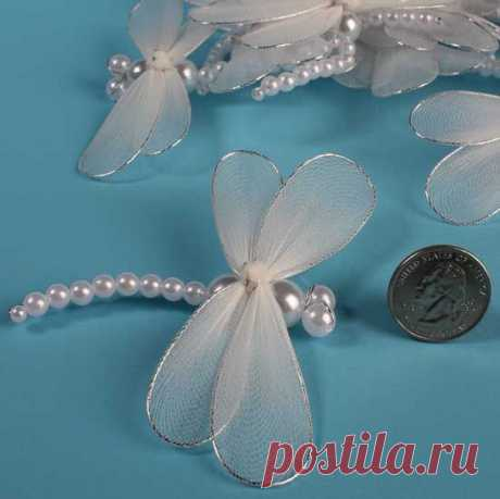 Dragonflies – this is similar to the butterflies made with the tulle Dragonflies  this is similar to the butterflies made with the tulle