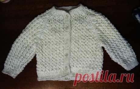 Вязание кофточки спицами для ребенка 1 года (реглан)