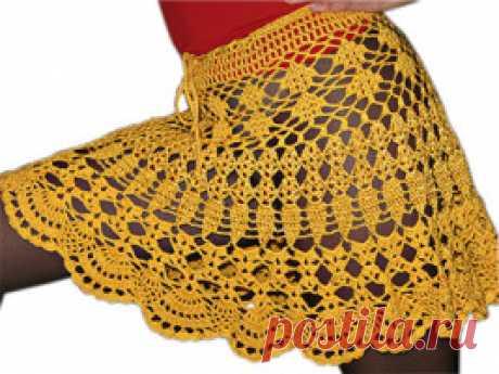 Летняя юбка крючком: схема вязания и описание