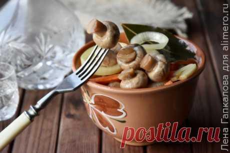 👌 Маринованные шампиньоны за 20 минут, рецепты с фото Маринованные грибочки популярная закуска. Они вкусны и сами по себе и в качестве дополнения к различным салатам. Вообще грибы необыкновенно ценный продукт. Они высоко ценятся не то...