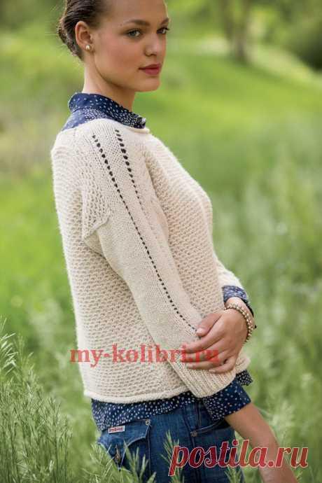 Модный пуловер спицами «Wheaten» - Колибри Модный пуловер спицами«Wheaten» от дизайнера Джоан Роджерс – та вещь, в которой вы поймёте, что знач