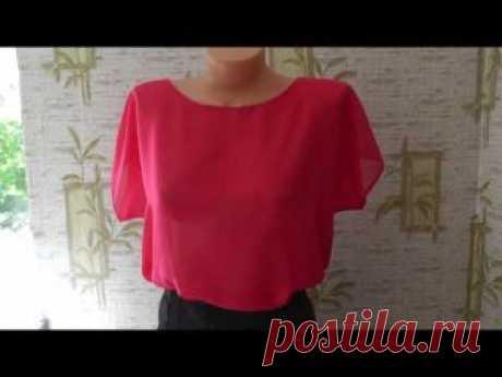 Легкий крой и быстрый пошив шифоновая блузка