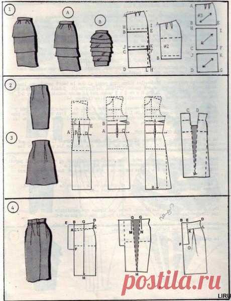 Быстрые юбки: выкройки, как сшить. +видео.