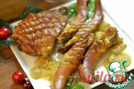Свиные хвостики запеченные - кулинарный рецепт