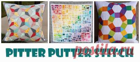 Pitter Putter Stitch: Бумага Кусочно Калейдоскоп Учебник