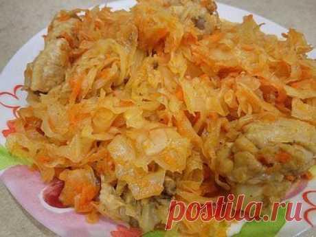 Тушеная капуста с курицей в мультиварке - простой и вкусный рецепт с пошаговыми фото