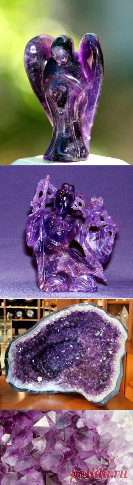Глубокий фиолетовый цвет аметиста резонирует с высшими чакрами или энергетическими центрами — третьим глазом и коронной чакрой. Поэтому аметист используется для медитации и открытия блоков, мешающих получению высшего знания.\ Аметист - камень высшего знания | Ветер и Вода