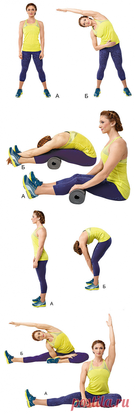 8 упражнений для идеальной растяжки