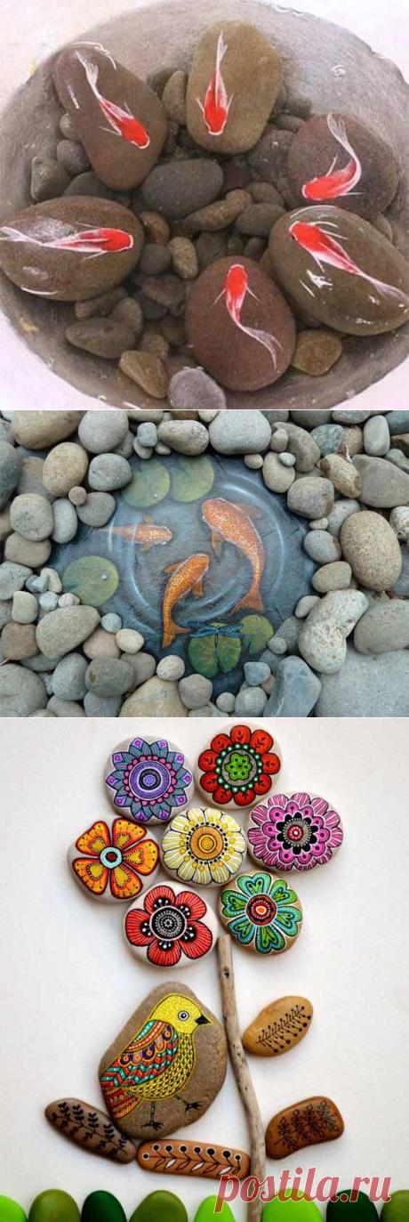 Как сделать забавные поделки для дачи из камней своими руками
