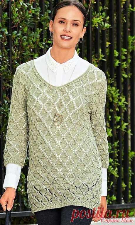 d5ec52882af пуловер спицами - Самое интересное в блогах