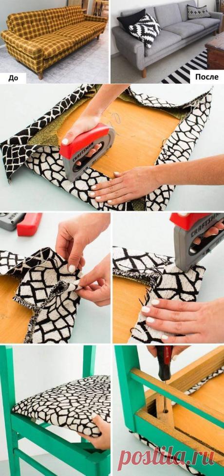 Реставрация мягкой мебели своими руками: инструкции и фото