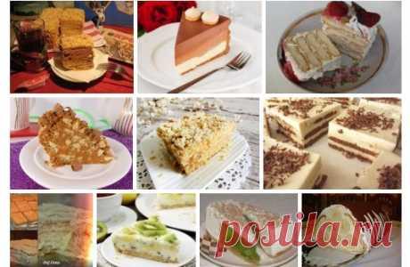 Потрясающая подборка из 10-ти рецептов тортов из печенья Это вкус нашего детства. Все просто, быстро и очень вкусно!