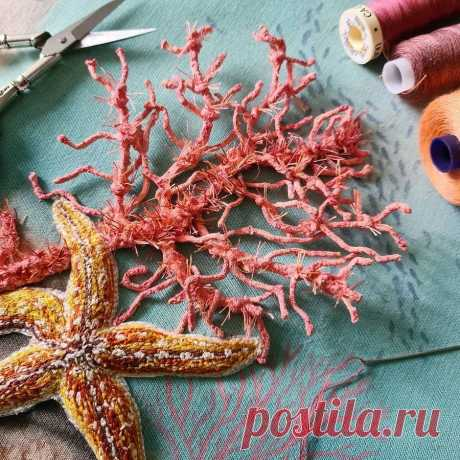 Объёмные вышивки, воспевающие красоту дикой природы: рукодельный instagram недели — Мастер-классы на BurdaStyle.ru