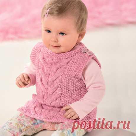 Жилет для малышей с рельефным узором - схема вязания спицами. Вяжем Жилеты на Verena.ru