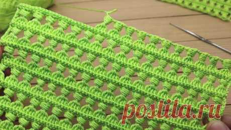 Красивый и простой УЗОР крючком МАСТЕР-КЛАСС вязание для новичков How to crochet EASY for beginners – Журнал Вдохновение Рукодельницы