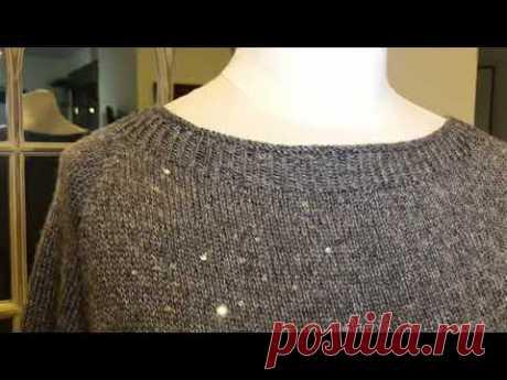 Пуловер «СКАЗКА» с оборкой 💓  #сказкасоборкой 💓 Закрытие низа изделия особым способом