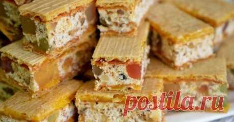 Торт «Нуга» из вафельных коржей - Со Вкусом