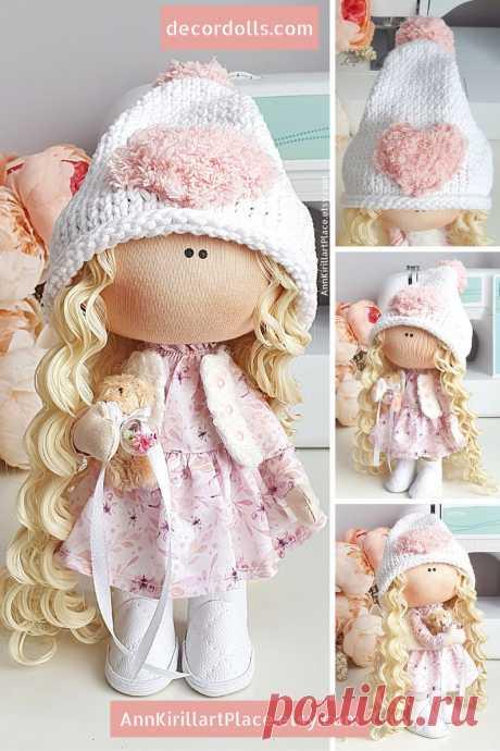 Tilda Doll Handmade Cloth Fabric Doll Textile Interior Doll | Etsy