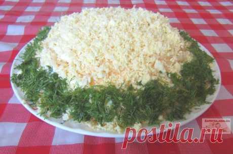 Салат«Курица под шубой» Салат «Курица под шубой» — очень простой в исполнении и вкусный слоеный салат. Подходит для подачи на любой праздник, гости от него в восторге! Ингредиенты: — куриное филе – 300 грамм; — грибы – 300 грамм; — яйца – 4 шт...