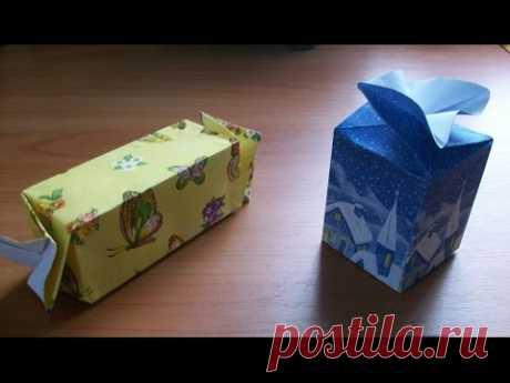 Новогодняя Подарочная Упаковка Своими Руками.